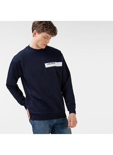 Lacoste Erkek Baskılı Sweatshirt SH0141.41L Lacivert